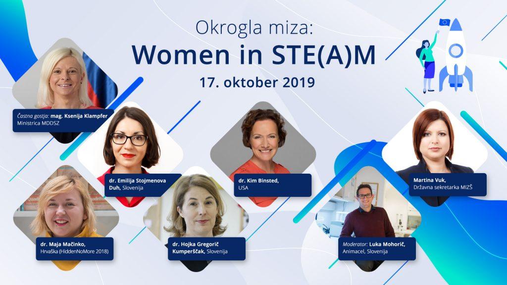 Okrogla miza: ženske v znanosti, tehnologiji, inženirstvu in matematiki