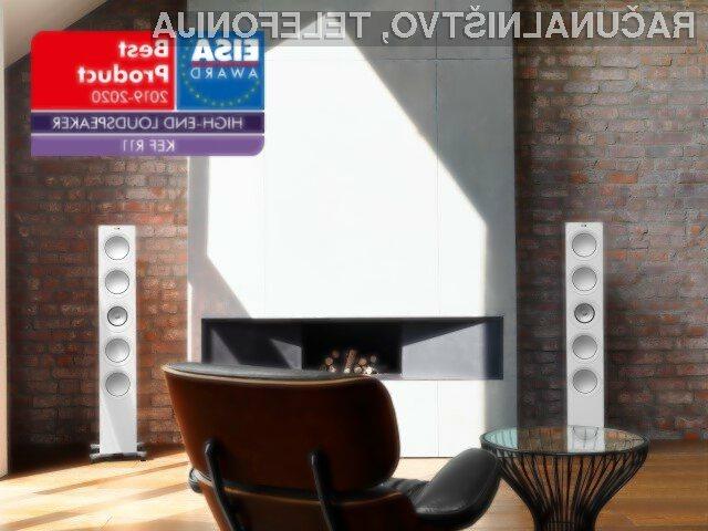 Britanska luksuzna audio znamka KEF z dvema nagradama na EISA