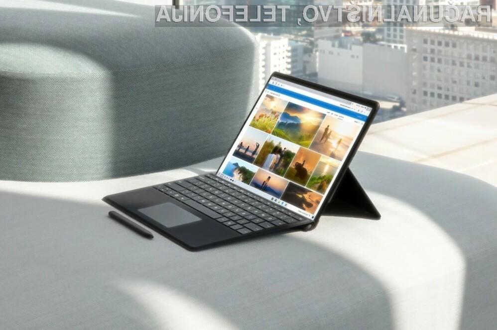 Novi prenosni računalnik Surface Pro X vas bo zagotovo takoj prevzel.