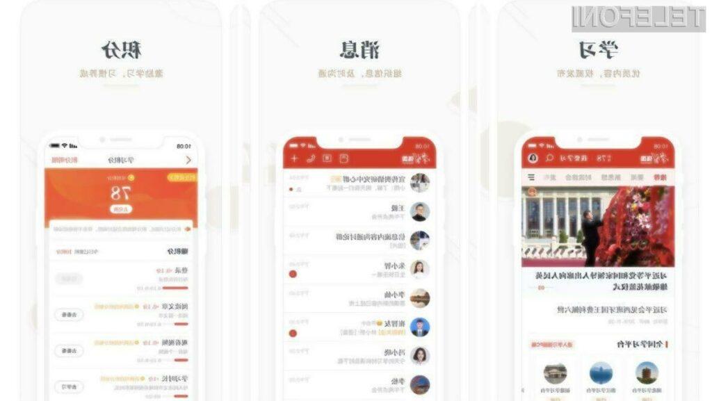 Zlonamerna aplikacija Study Xi, Strong Nation (Xuexi Qiangguo) predstavnikom kitajske vlade zagotavlja prost dostop do telefona.