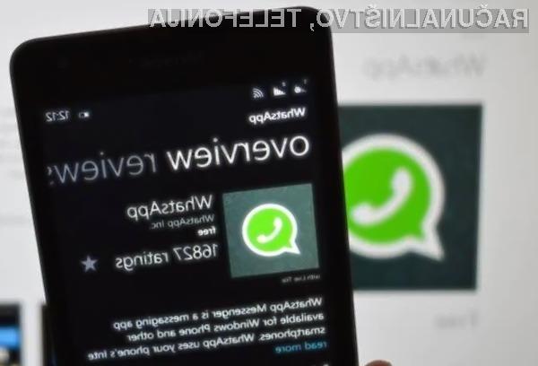 WhatsApp bomo na mobilnih napravah Windows Phone lahko uporabljali le še do konca leta.