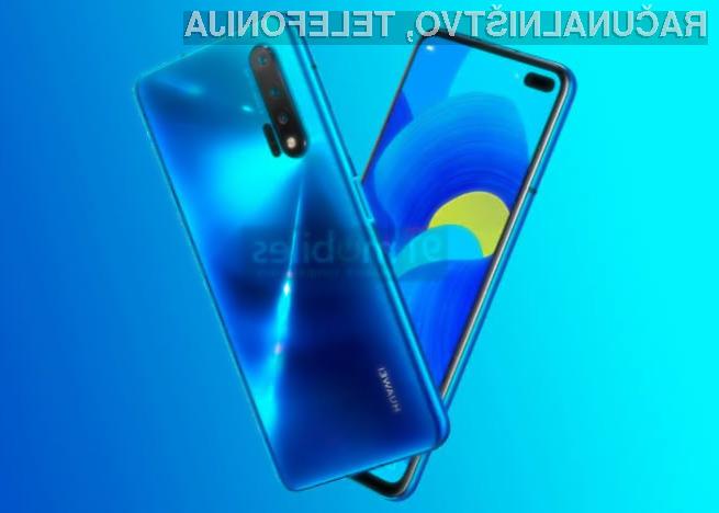 Pametni mobilni telefon Huawei Nova 6 bo opremljen s polnilnim sistemom moči kar 40 vatov.