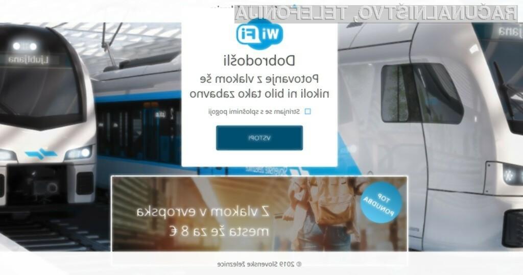 WiFi na voljo tudi na vlakih
