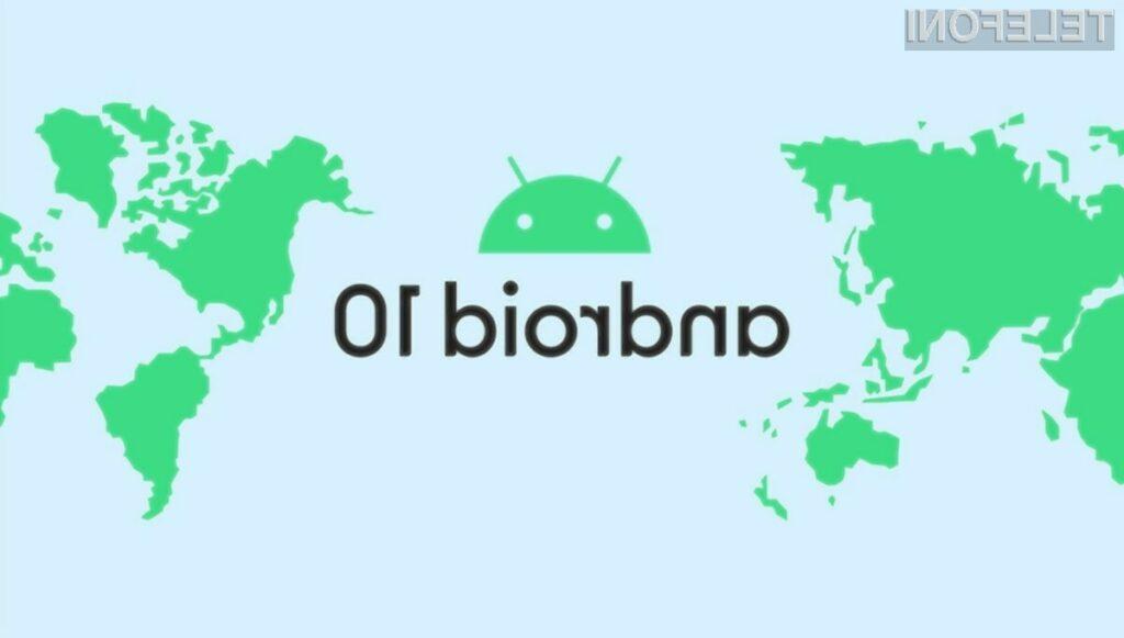 V Sloveniji naj bi novi Android 10 uporabljalo le okoli 0,38 odstotkov uporabnikov.