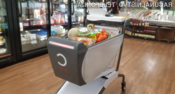 Pametni nakupovalni voziček podjetja Caper je navdušil mnoge!