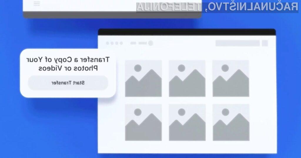 Fotografije in videoposnetke bomo lahko kmalu iz Facebooka prenesli neposredno v storitev Google Photos.