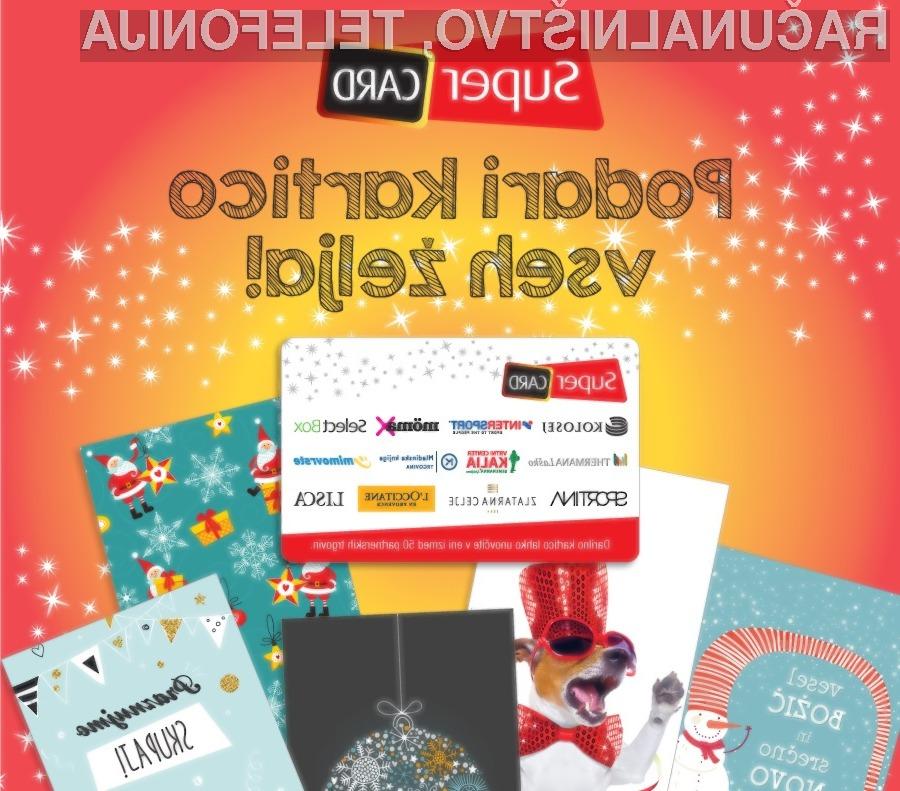 SuperCard kartica je darilo, ki se prilega vsakomur.
