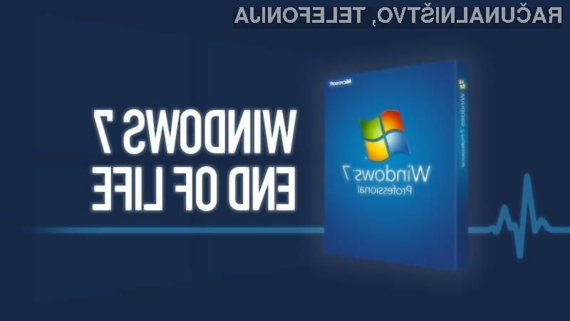 Uradna podpora za Windows 7 se bo iztekla 14. januarja prihodnje leto.
