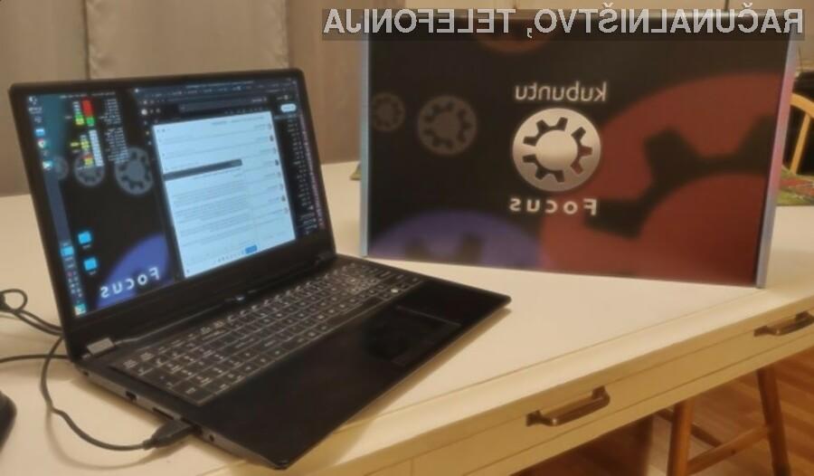 Prenosni računalnik Kubuntu Focus bo zlahka opravil tudi z najtežjimi opravili.
