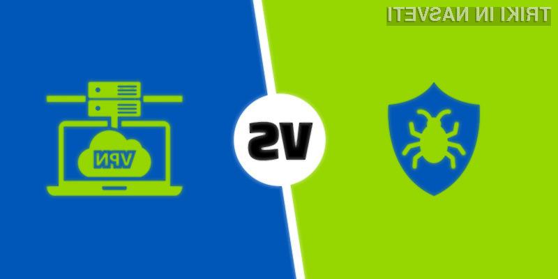 Kakšna je razlika med VPN-ji in antivirusno prgramsko opremo