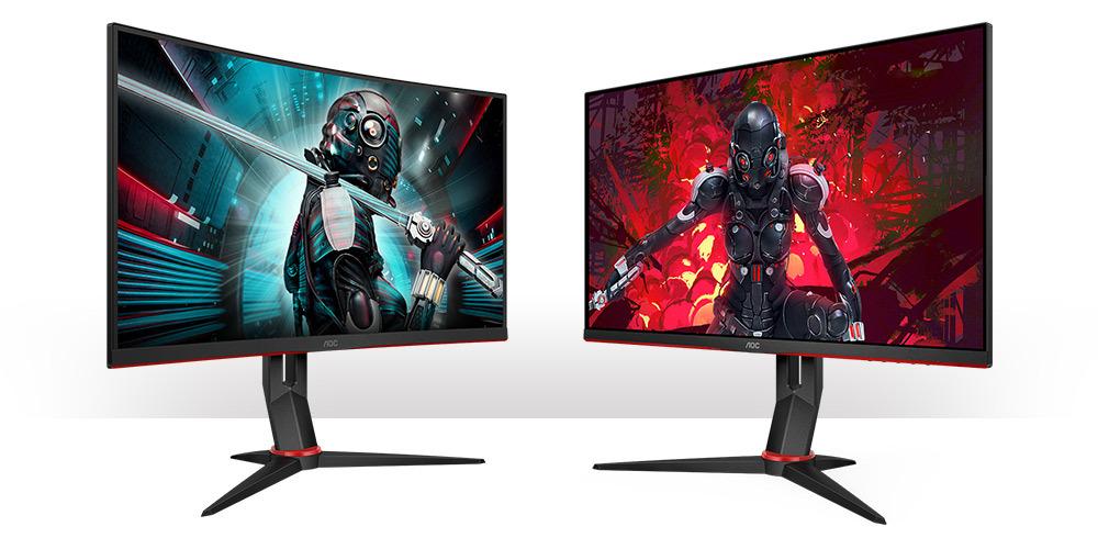 AOC CQ27G2U (ukrivljeni) in AOC Q27G2U (raven) QHD gaming monitorja