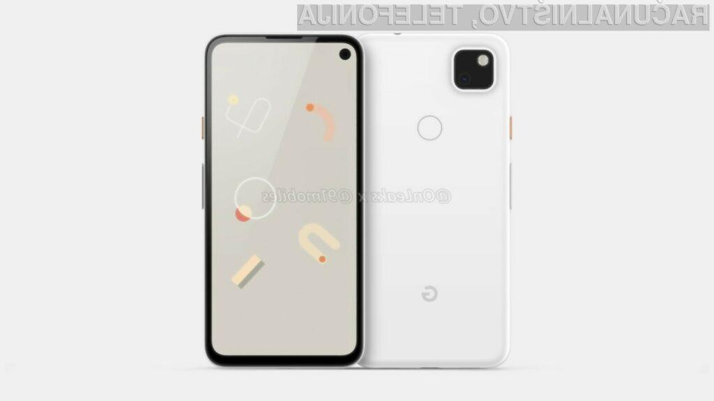 Pametni mobilni telefon Google Pixel 4a naj bil na voljo v začetku leta 2020.