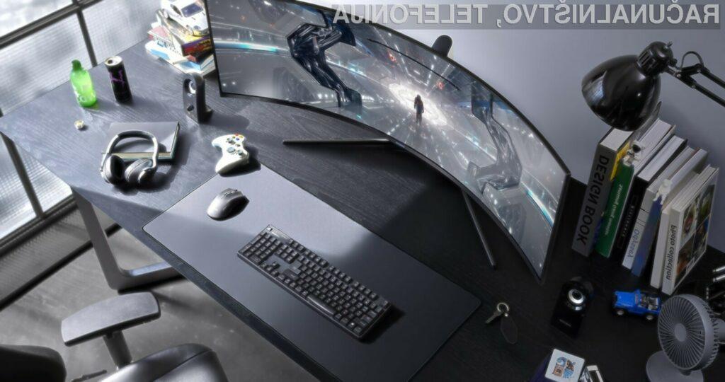 Ukrivljen zaslon Samsung Odyssey G9 je primeren tako za igre kot za gledanje filmov!