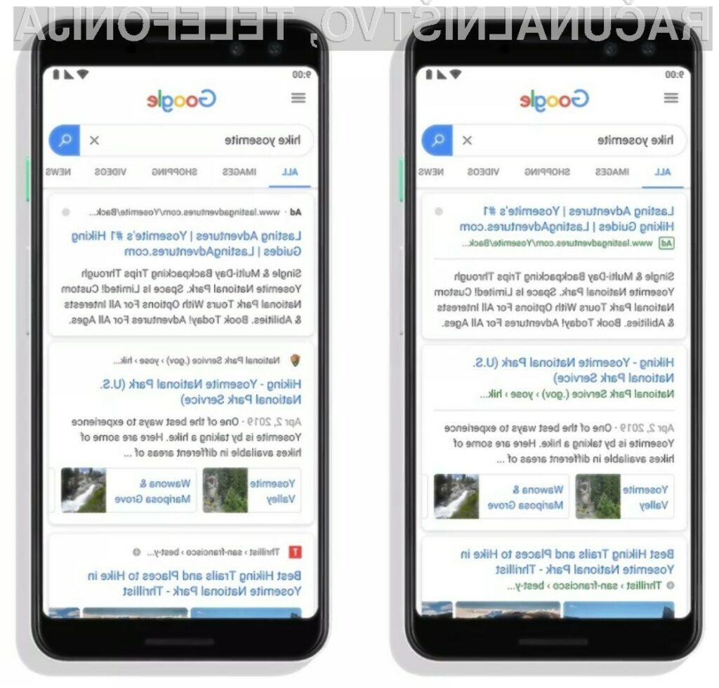 Iskanje na Googlu: nadležne nove ikone