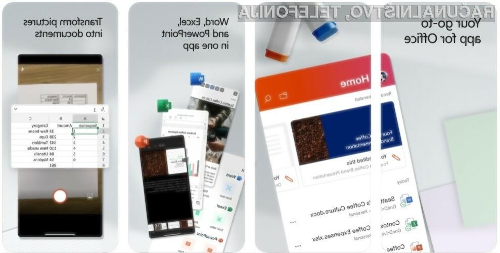 Novi mobilni Office je sedaj na voljo tudi za uporabnike mobilnih telefonov iPhone!