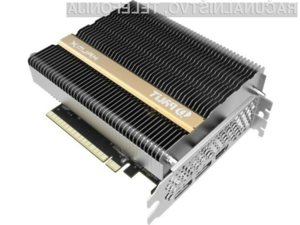 Grafična kartica Palit Microsystems GeForce GTX 1650 KalmX je pri delovanju povsem tiha.