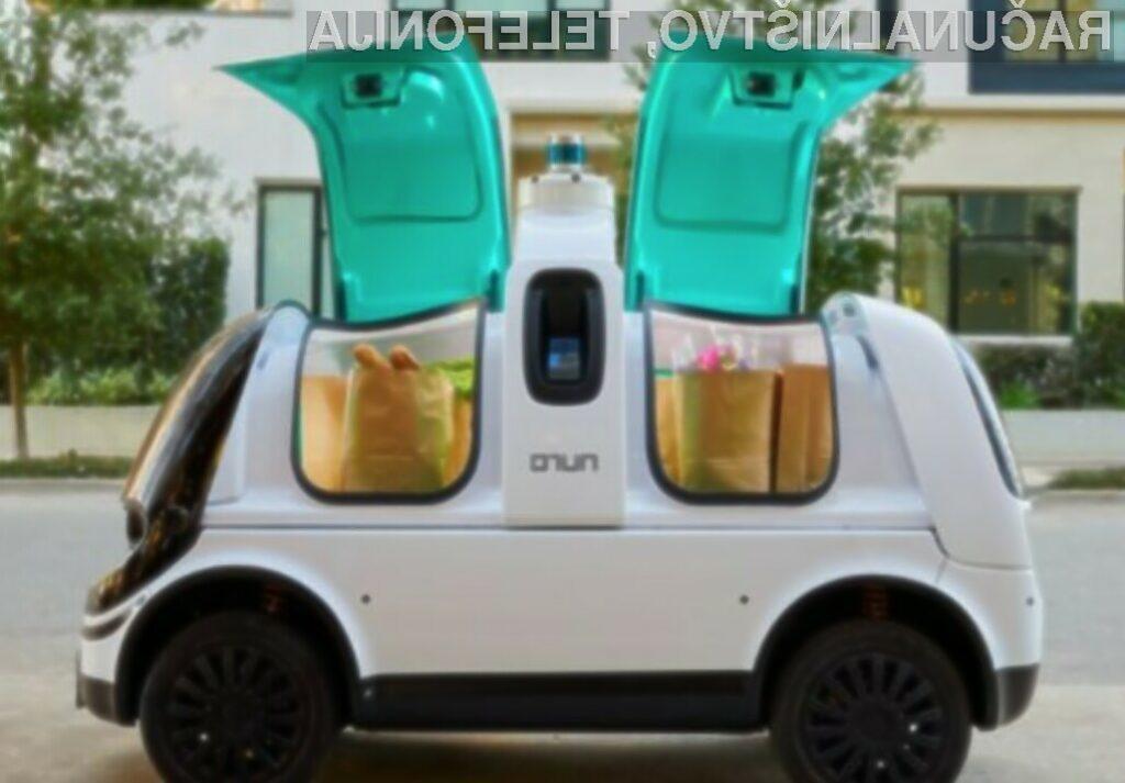 Testirali samovozeče vozilo za dostavo hrane