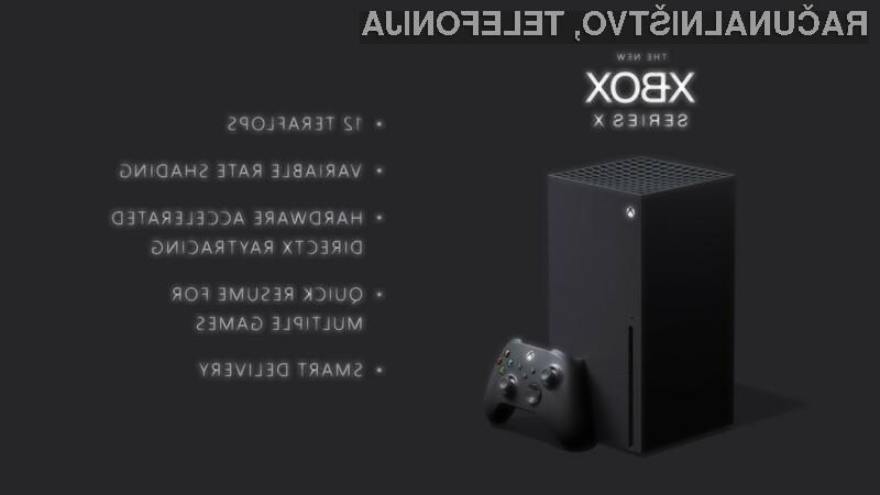 Igralna konzola Microsoft Xbox Series X naj bi bila kar štirikrat zmogljivejša od zdajšnjega modela Xbox One X.