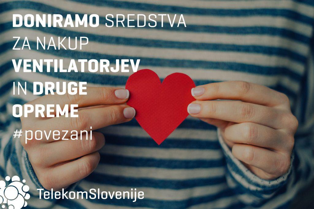 Telekom Slovenije bo UKC Ljubljana in UKC Maribor doniral 40.000 evrov