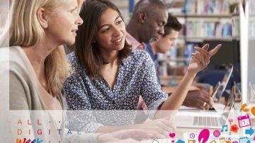 Ostanite doma in se učite online je slogan letošnje vseevropske kampanje, ki poteka v tednu od 23. do 29. marca 2020.