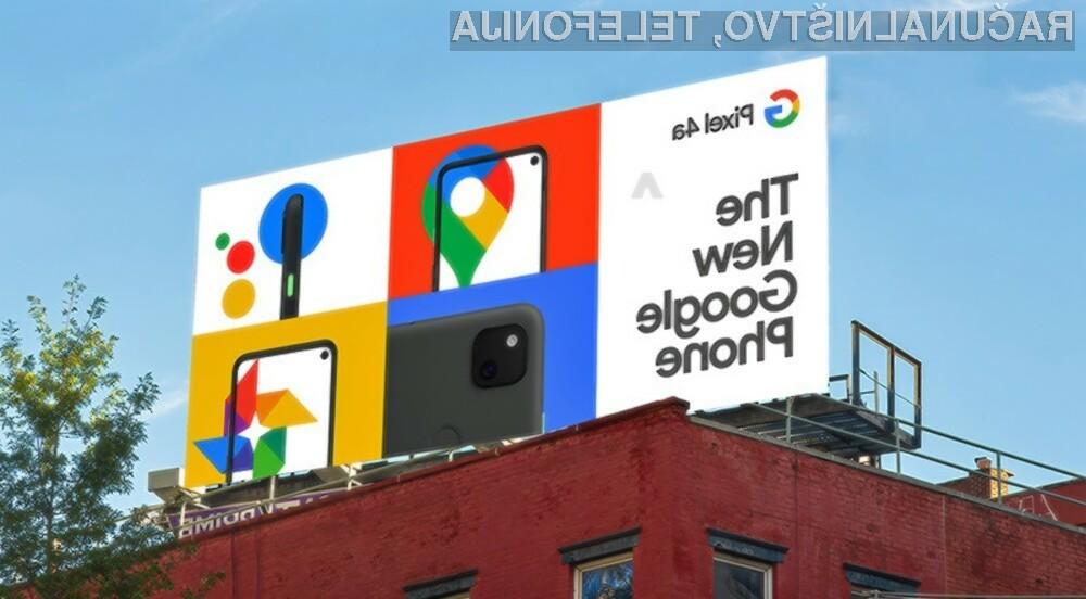 Pametni mobilni telefon Google Pixel 4a naj bil na voljo še pred poletjem.
