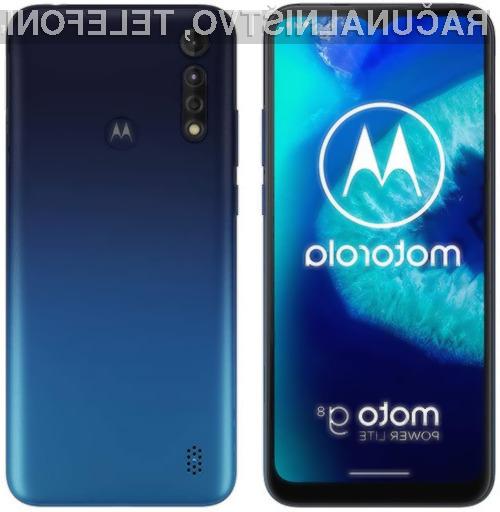 Pametni mobilni telefon Motorola Moto G8 Power Lite bo zlahka navdušil tudi nekoliko zahtevnejše uporabnike.