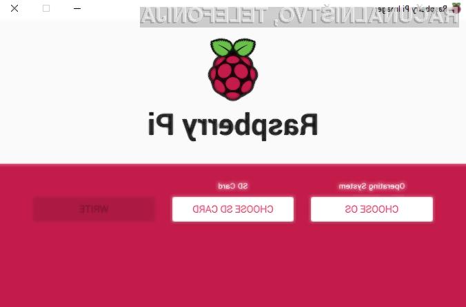 """Raspberry Pi z uradnim """"zapisovalnikom"""""""