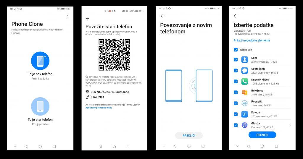 Kako najbolj enostavno prenesti podatke in aplikacije iz starega telefona na novi Huawei P40?