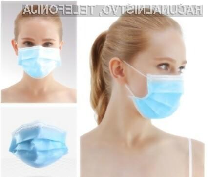 V paketu boste dobili 50 zaščitnih mask.