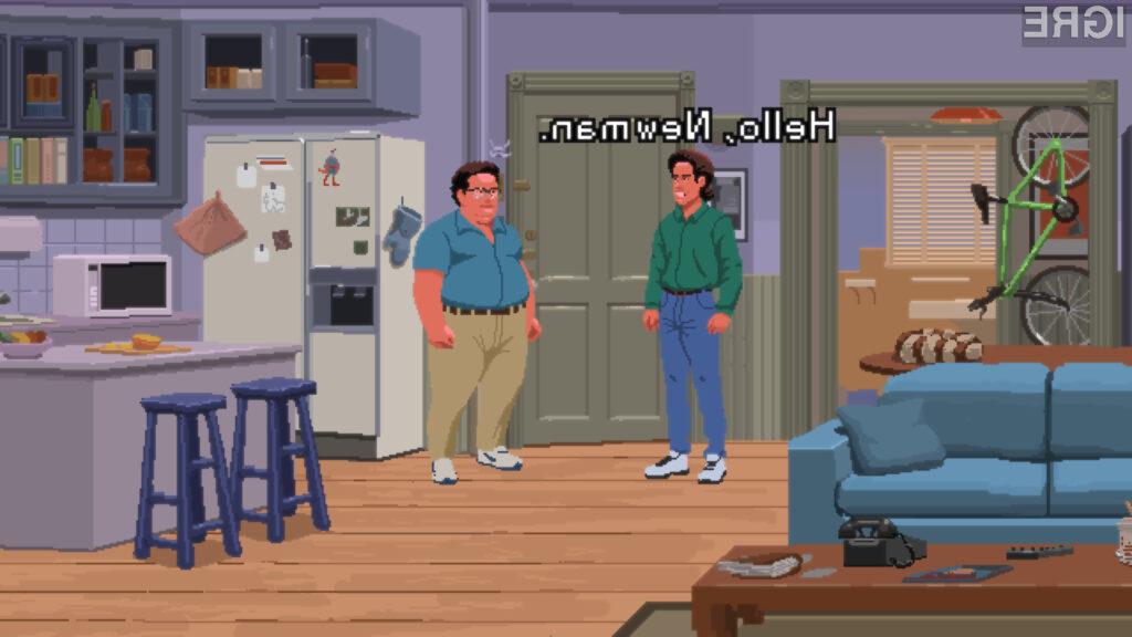 V igri seveda ne sme manjkati niti Jerryjev večni sovražnik, Newman.