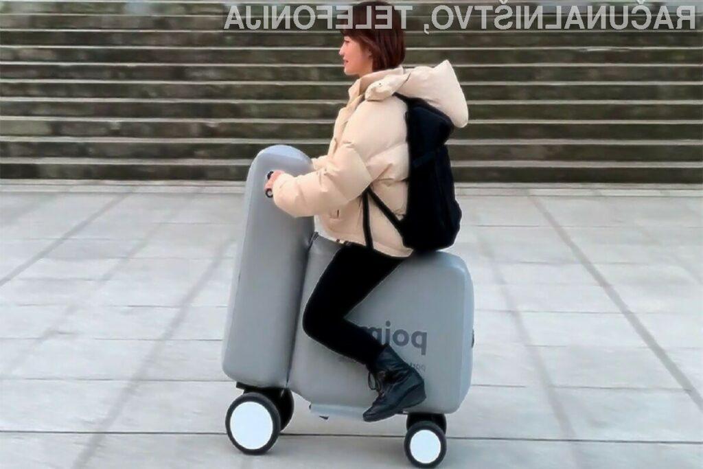 Napihljivo električno vozilo lahko zložimo kar v nahrbtnik.