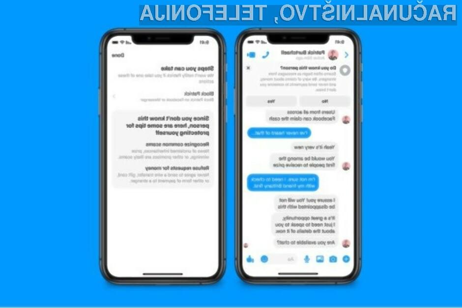 Sporočilni sistem Facebook Messenger nas bo kmalu ščitil pred prevarami s pomočjo umetne inteligence.