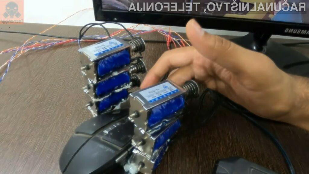 Edinstvena računalniška miška, ki jo je zasnoval Jatin Patel.