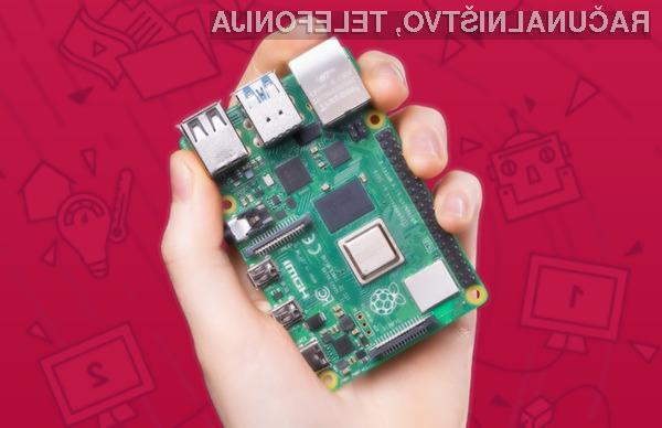 Novi Raspberry Pi 4 je opremljen s kar osmimi gigabajti sistemskega pomnilnika!
