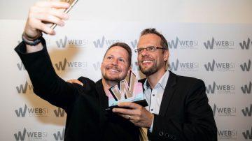 Veselje lanskoletnih WEBSI zmagovalcev.