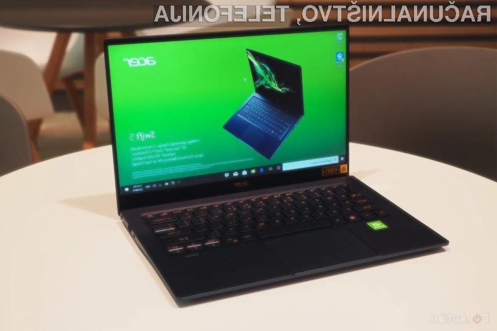 Prenosniki Acer Swift 5 bodo prvi opremljeni procesorji Intel 11. generacije.