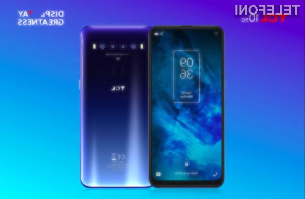 Telefon TCL 10 5G ponuja dostop do omrežja 5G po zelo nizki ceni.