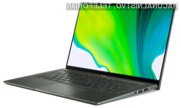 Prenosniki Acer Swift 5 je prvi opremljen s procesorji Intel 11. generacije.