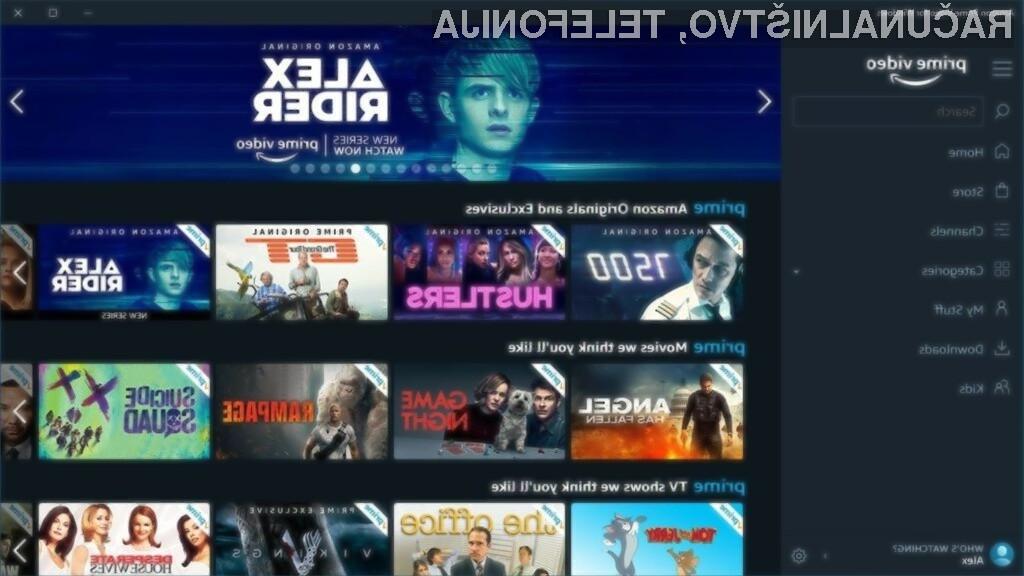 Aplikacija Amazon Prime Video for Windows omogoča uporabo priljubljene storitve brez spletnega brskalnika.