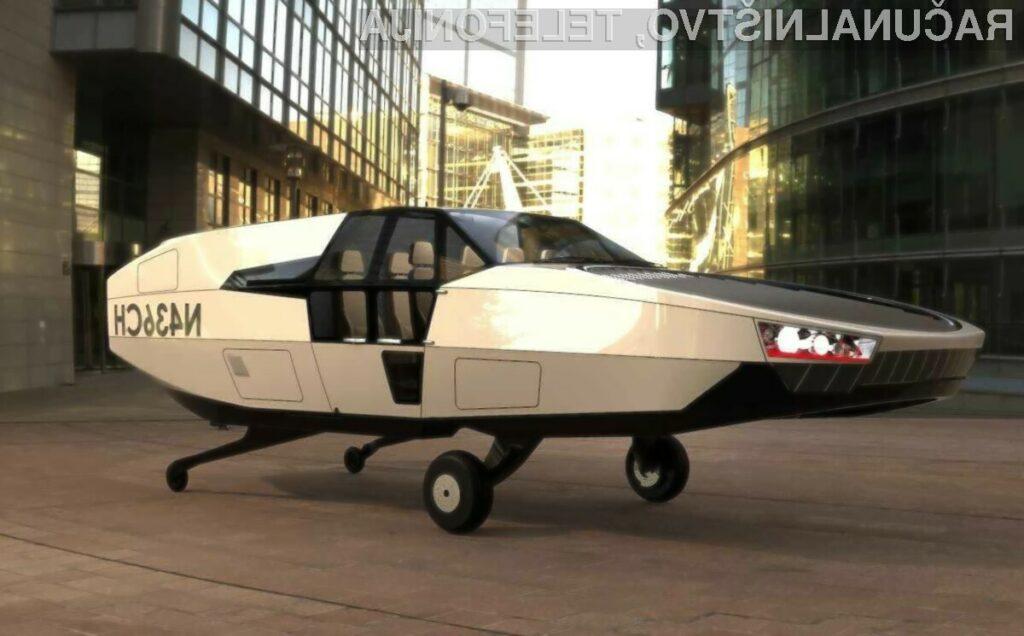 Koncept letečega avtomobila na vodik CityHawk H2 bo podjetje Urban Aeronautics pripravilo v sodelovanju s podjetjem HyPoint.