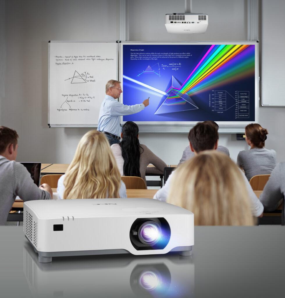Širok razpon laserskih projektorjev NEC