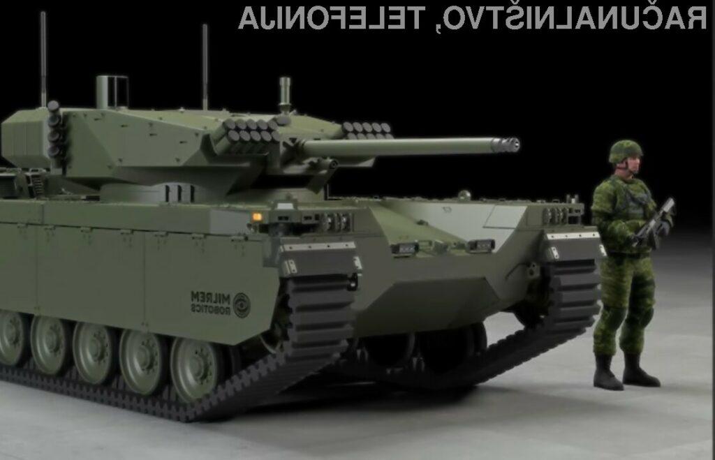 Miniaturno vojaško vozilo Type-X Robotic Combat Vehicle lahko povsem samodejno opravlja vojaške naloge.