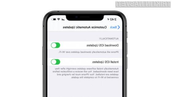 Kako vključiti avtomatske iOS posodobitve na iPhonu?