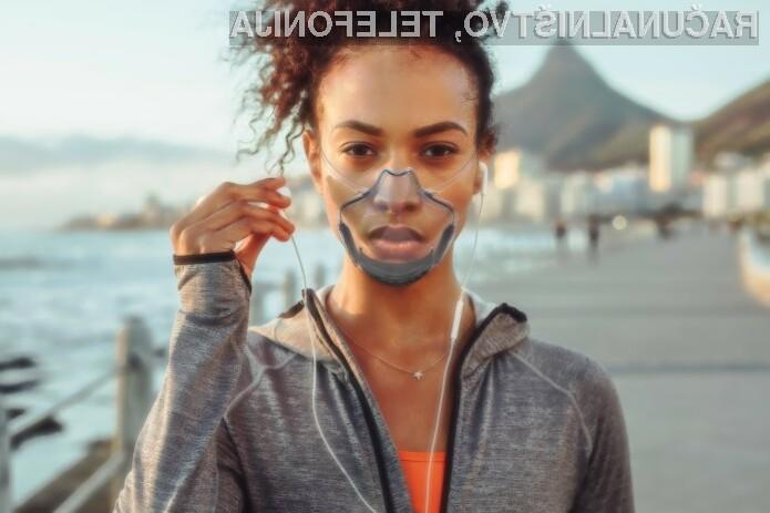 Zaščitna maska LEAF je posebna v tem, da je prozorna.