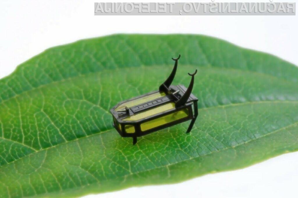 Robotsko žuželko RoBeetle dejansko poganja tekoči metanol.