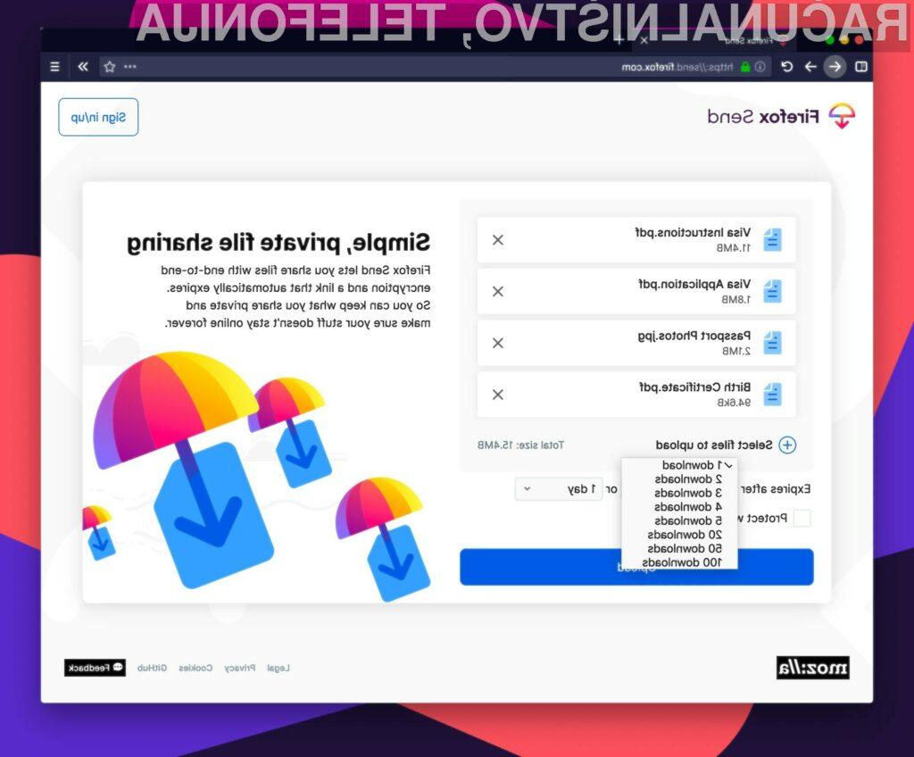 Storitev Firefox Send je bila ugasnjena zaradi zlorab s strani nepridipravov.