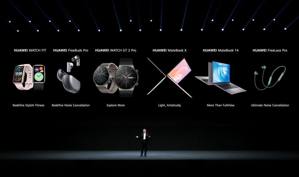 Huawei predstavil kar 2 novi pametni uri, 2 nove slušalke in 2 nova napredna prenosnika