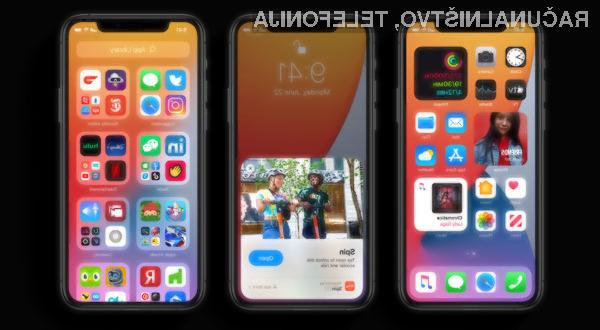 Novi iOS 14 je mogoče namestiti na vse naprave, ki lahko poganjajo iOS 13!