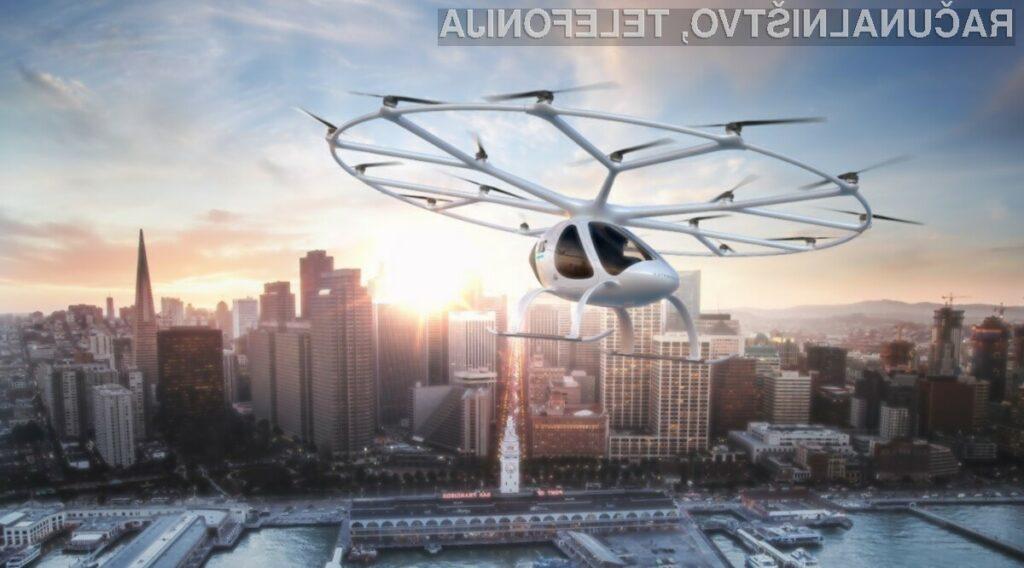 Električni helikopter Volocopter VoloCity je že pred časom uspešno opravil prvi polet s človeško posadko!