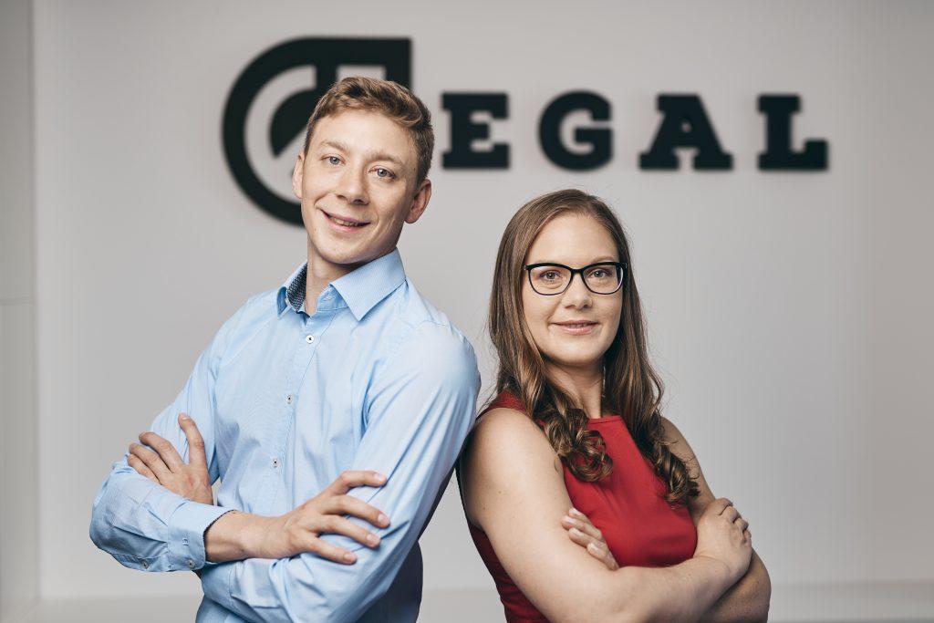 Peter Süssinger, poslovni direktor v podjetju EGAL in direktorica Una Süssinger.